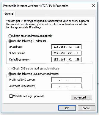 Set manual IP adress. ESCAPE='HTML'
