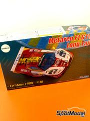 Maqueta de coche 1/24 Fujimi - McLaren F1 GTR Long Tail EMI Nº 40 - Rourke + Sugden + Auberlen - 24 Horas de Le Mans 1998 - maqueta de plástico y fotograbados