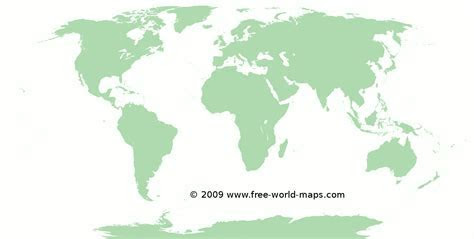 Printable blank green white world map C5   Free world maps