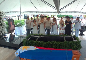 PRIVATE BURIAL. The burial ceremony for the late Philippine president Ferdinand Marcos is attended by close family members only. Photo from Marcos Presidential Center