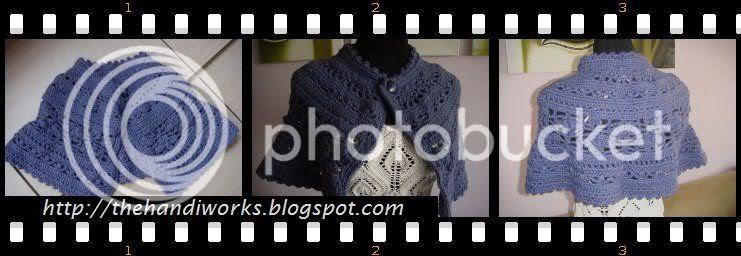 Interweave Knit crochet Chanson capelet