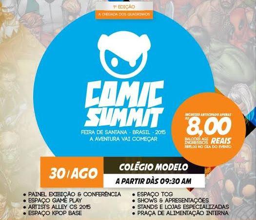 1ª Comic Summit traz games, quadrinhos e cosplay para Feira de Santana