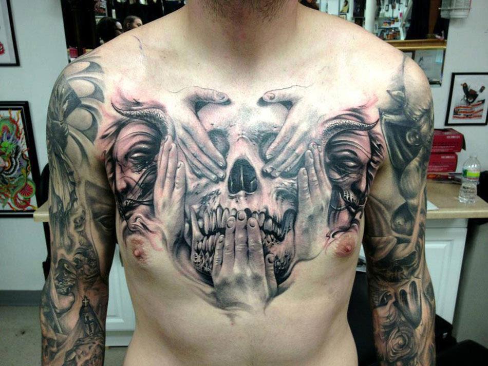 See No Evil Skull Best Tattoo Design Ideas