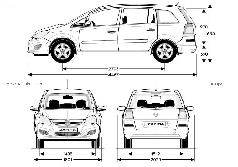 locations de vehicule  voitures  dimension opel zafira