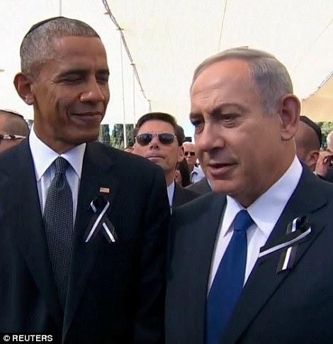 O presidente dos EUA, ficou com o primeiro-ministro de Israel, Benjamin Netanyahu