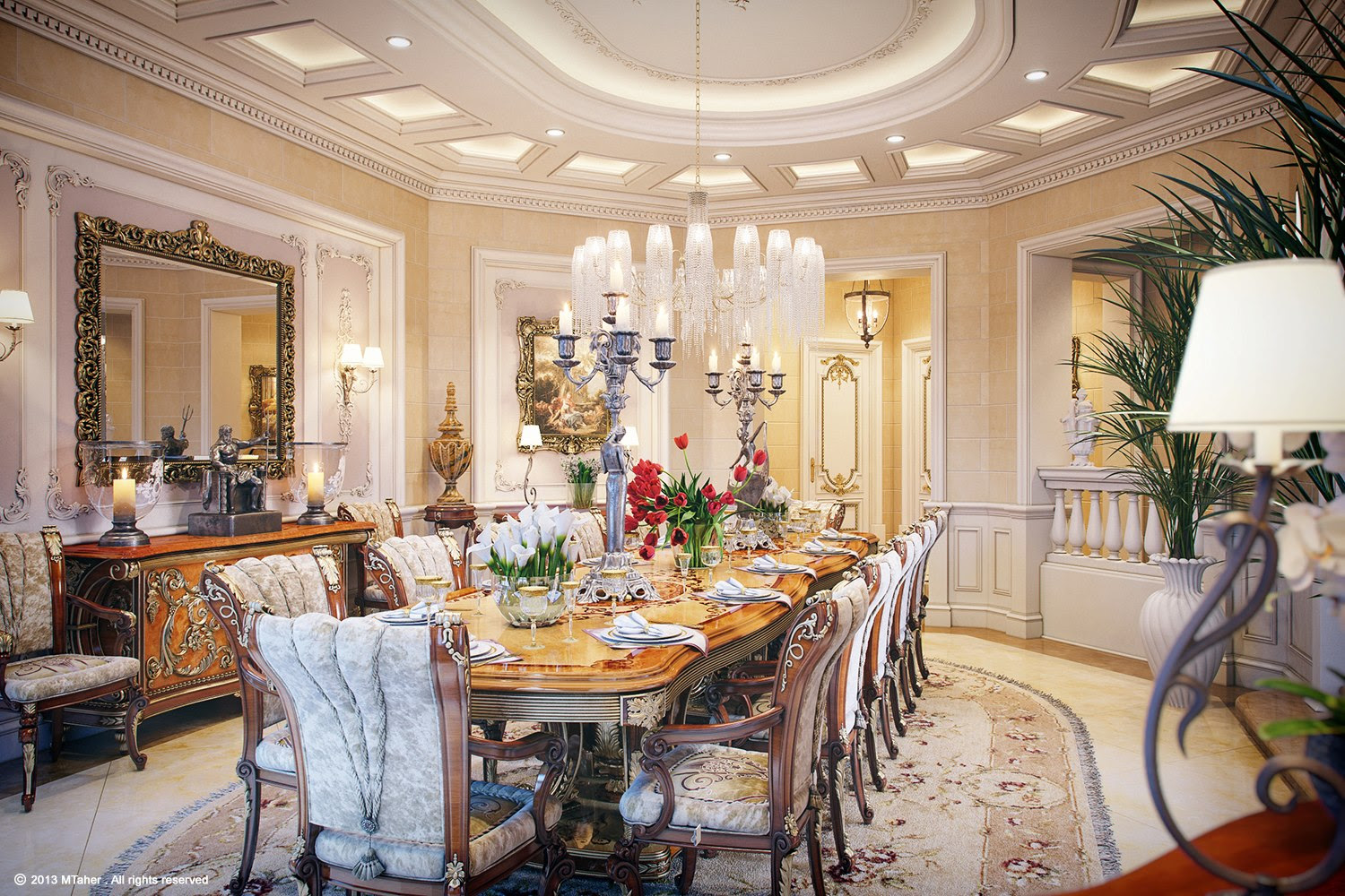 Designing Ideas of Luxury Dining Room