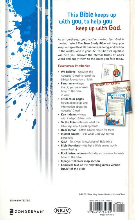 NKJV Teen Study Bible, hardcover