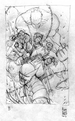 Marvel made in Italy: cover by Camuncoli, sketch 2