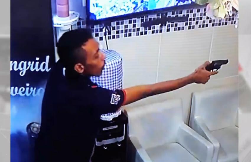 Assaltante faz arrastão em consultório odontológico (FOTO: Reprodução TV Jangadeiro)