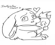 Kawaii Bunny Coloring Pages Printable