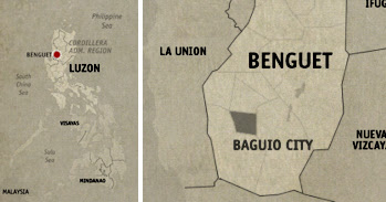 Baguio City Location Map