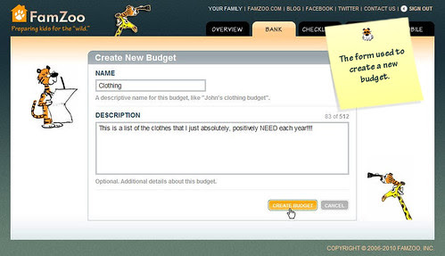 Create New Budget Form
