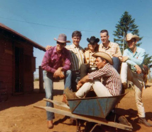 img164_Roy_Latigo_Bib_Steve_Buddie_and_Zack_in_Blue_Convertible_at_Jack_and_Jill_Ranch_1966
