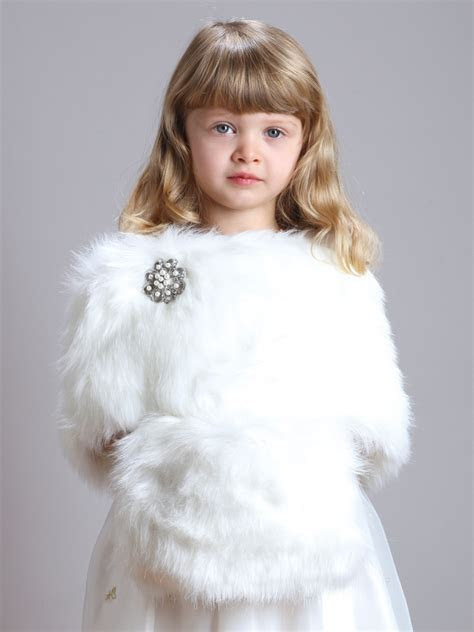 childrens ivory faux fur hand muff  winter weddings