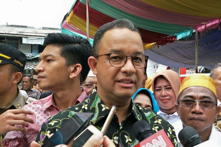 Gubernur DKI Jakarta Anies Baswedan di Ancol, Pademangan, Jakarta Utara, Sabtu (16/12/2017).
