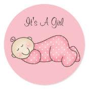 Sleeping Baby Sticker sticker