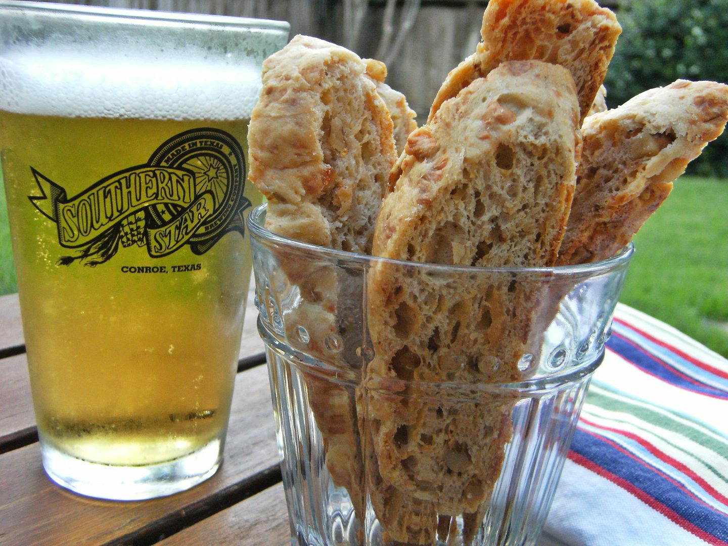 Savory Gouda Biscotti, perfect with a beer