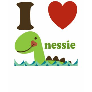 Loch Ness Monster I Heart Nessie Girls Tee Shirt shirt