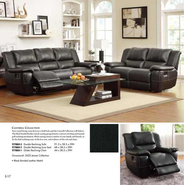 Leather Reclining Living Room Sets Products on Houzz