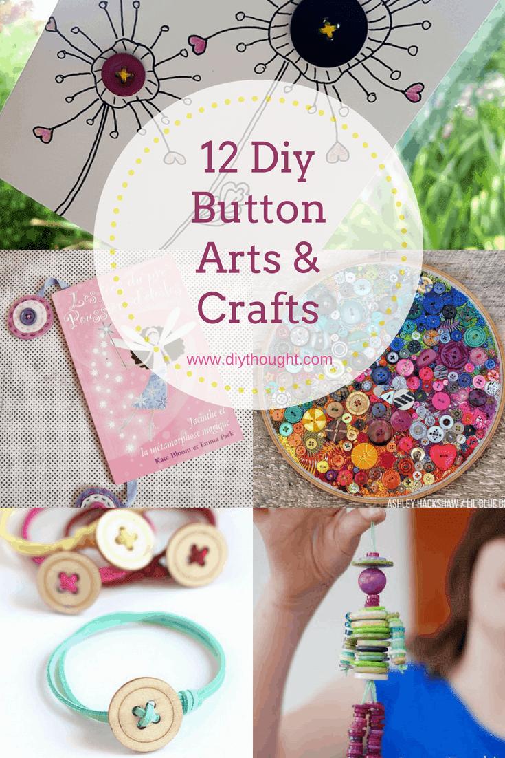 12 Diy Button Arts Crafts Diy Thought