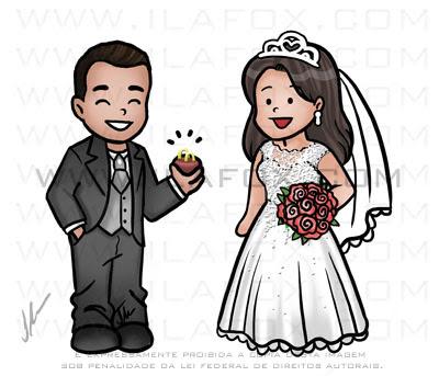 caricatura noivos, caricatura casal, caricatura delicada, caricatura meiga