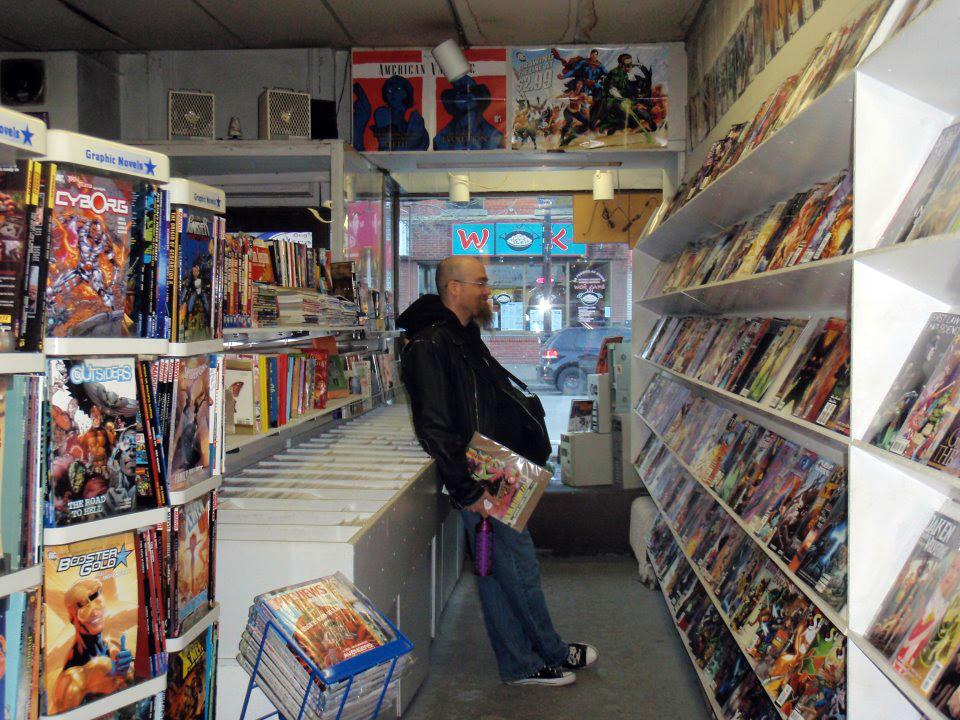 Photo of Von Allan at Montreal's Astro Books (Librairie Astro)