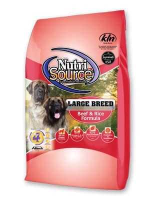 nutrisource large breed beef rice recipe dry dog food