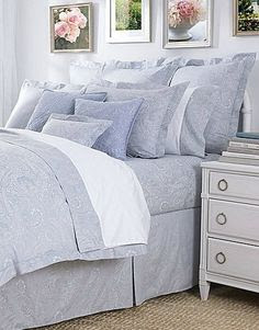 Blue and white bedroom on Pinterest | 124 Pins