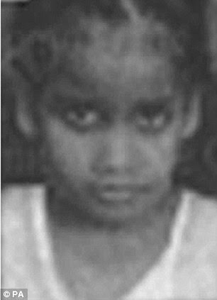 Missing: Lutfiya Salum, six, was with her teenage aunt when they left their home to go the library