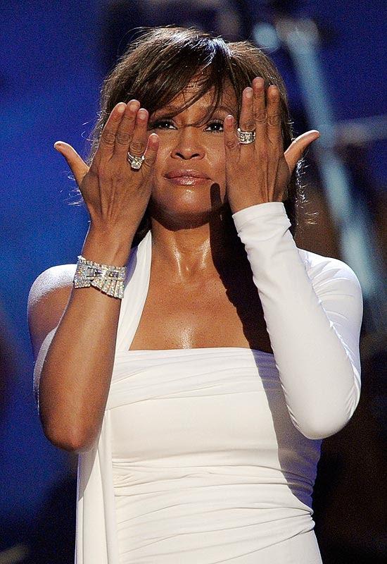 A cantora Whitney Houston durante premiação do American Music Awards, em Los Angeles, em 2009