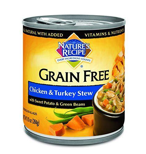 natures recipe grain  wet dog food chicken turkey