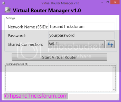 Cara Setting Wifi Hotspot dengan Virtual Router Wireless Internet Connection