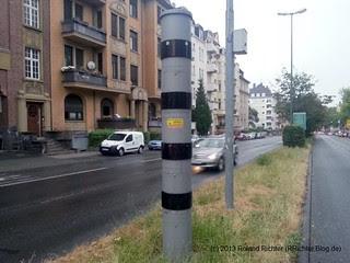 Radargerät an der Schiersteiner Straße in Wiesbaden