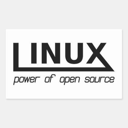 Linux Rectangular Sticker
