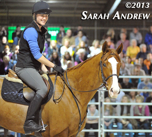 Alluring Punch and Valerie Shepard at the Maryland Horse World Expo