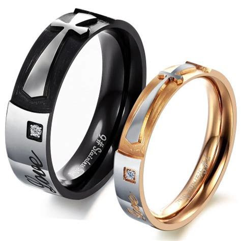 Couples Promise Rings Sets for Him and Her; His Hers