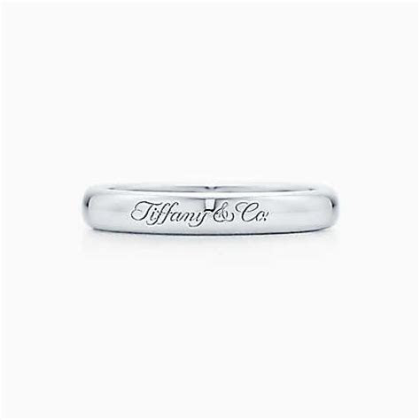 Lucida® band ring in platinum with Tiffany & Co