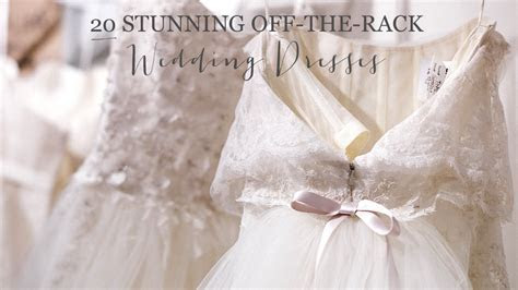 20 Show Stopping Off the Rack Wedding Dresses   Glitter, Inc.