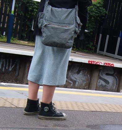 Mock Converses & Tweed Skirt