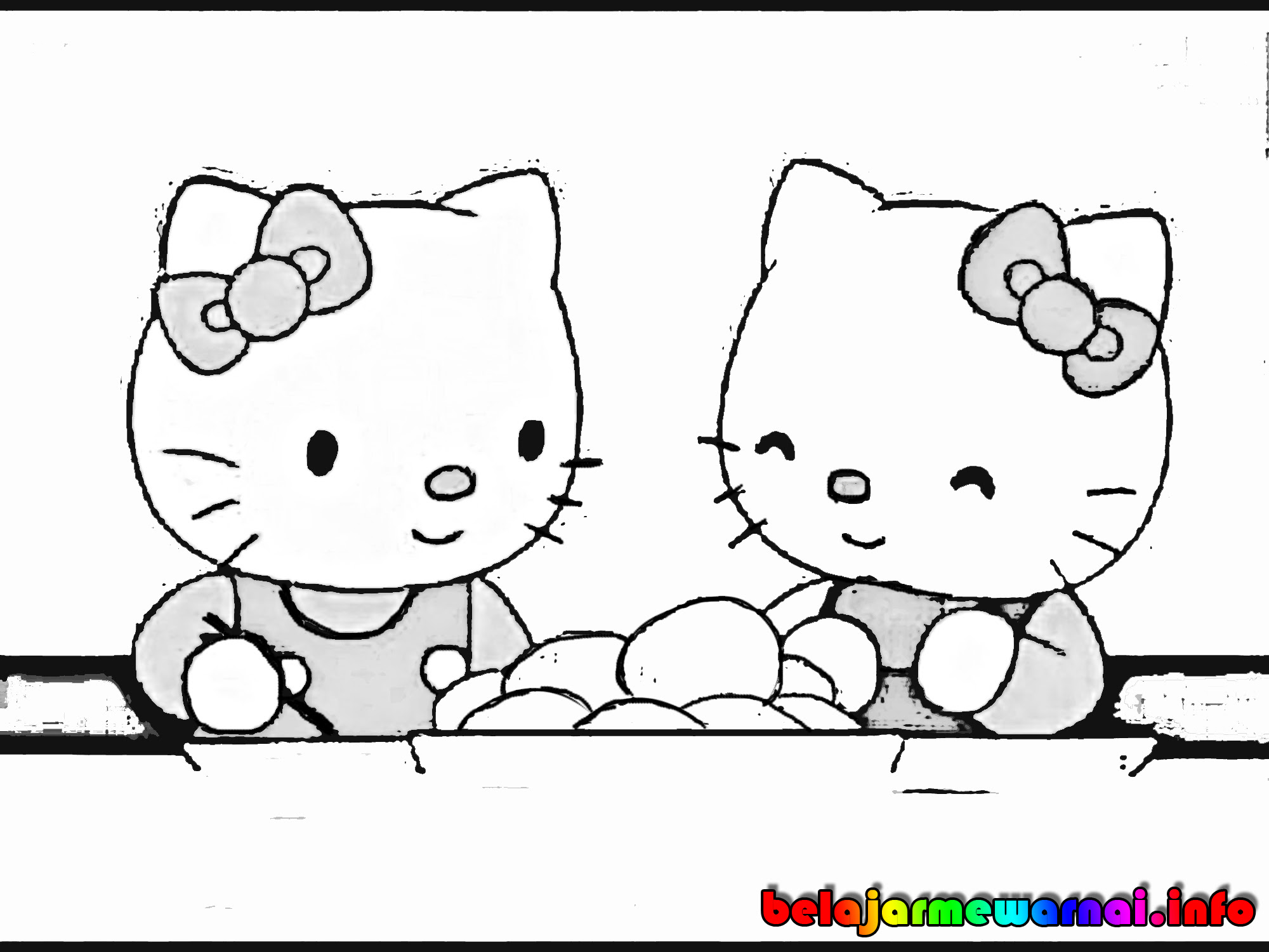 Free Hellokitty Hitam Putih Download Free Clip Art Free Clip Art