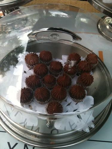 Dark chocolate mini cupcakes, Kumquat Cupcakery