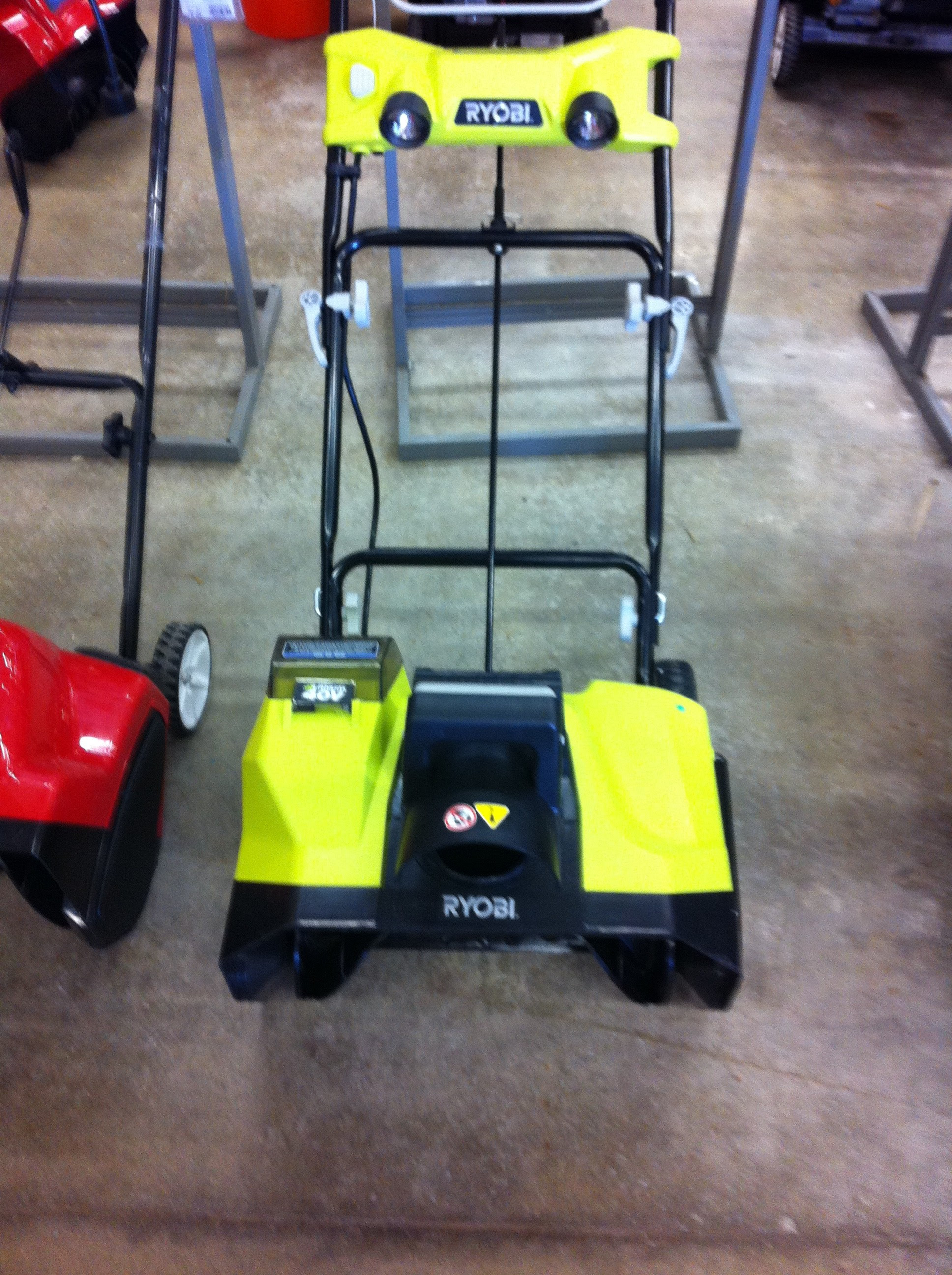 """New Ryobi Cordless 20 """" 40 Volt Snow Blower Spied At My Local Home"""