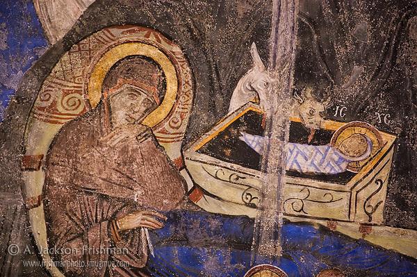 Nativity (Christmas) Icon from Cappadocia, Turkey
