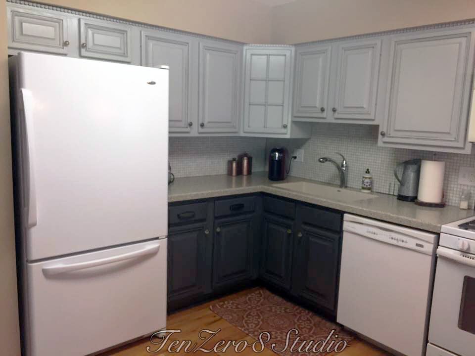 Seagull Gray and Driftwood Kitchen Cabinets | General ...