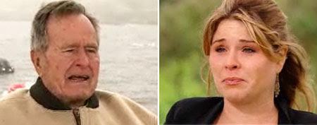 George H.W. Bush and Jenna Bush Hager on Today show (via Hulu)
