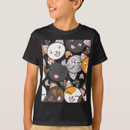 Kawaii Kitties Kid's Shirt/Sweatshirt (dark) T-Shirt