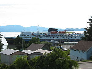 Alaska State Ferry M/V Matanuska departing Wra...