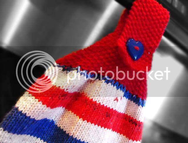 patriotic hanging towel