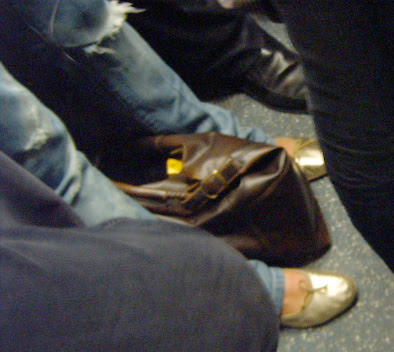 Tattered Jeans & Metallic Shoes