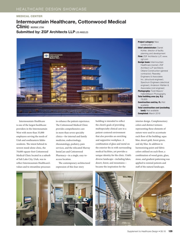 Healthcare Design August 2016
